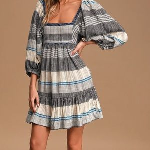 NWOT Free Peoples Cozy Striped Mini Dress